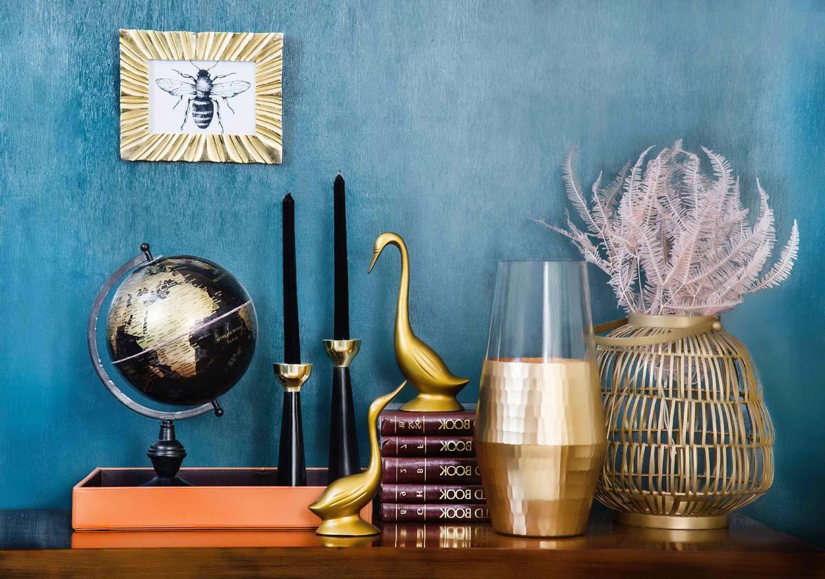 decoration gold blue
